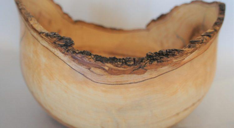 Olive natural edge bowl