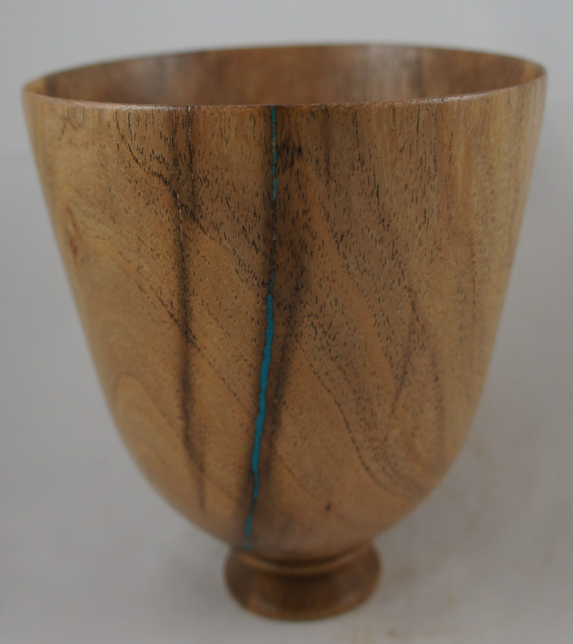 Mesquite bowl with turquoise embellishment