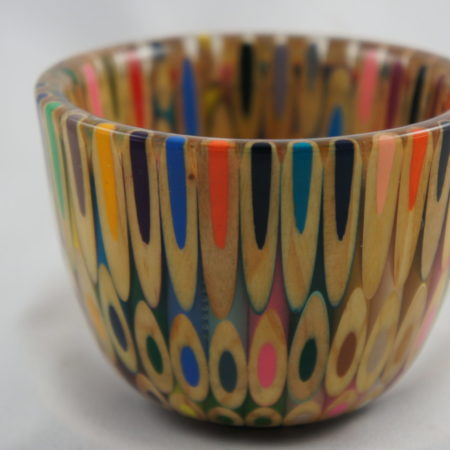 Small colored pencil bowl