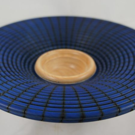 Maple Bowl with blue air brushing