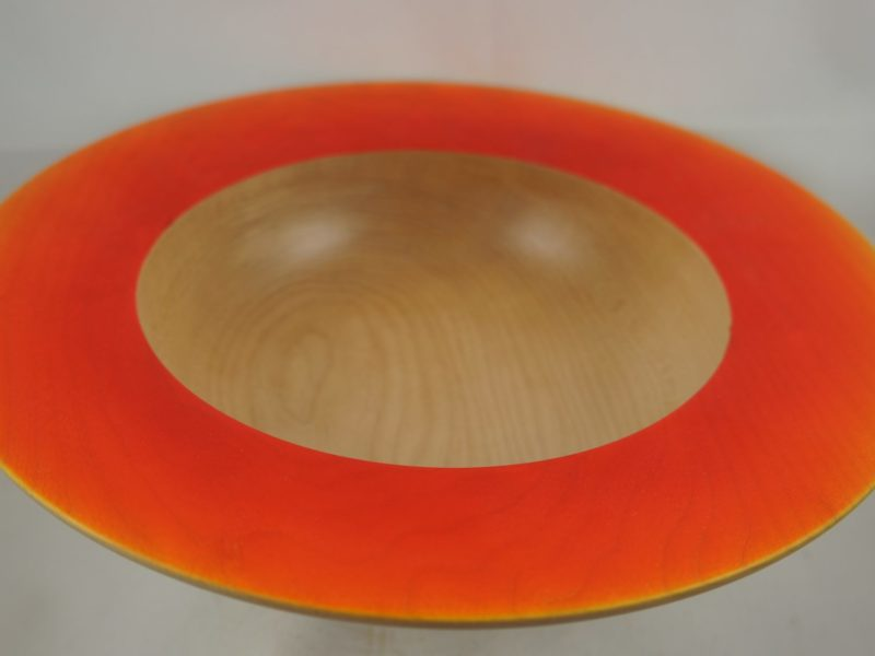 Maple bowl with orange air brushing