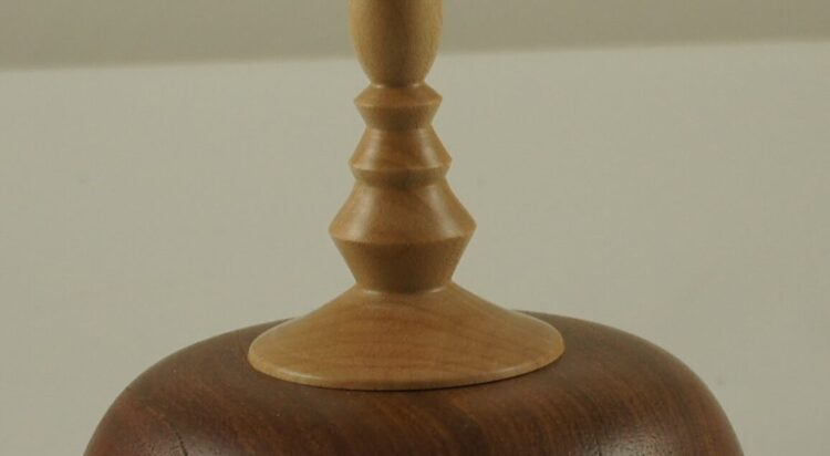 Mesquite vessel with finial