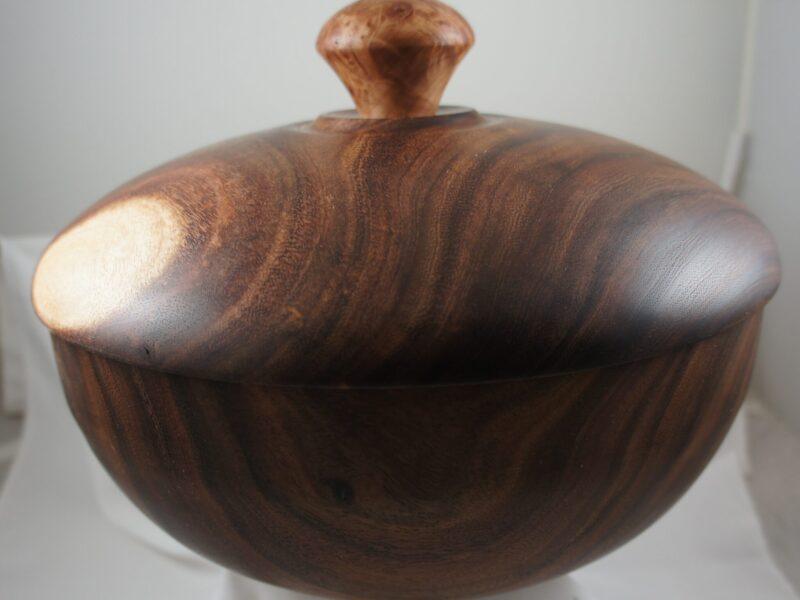 Acacia Lidded Bowl